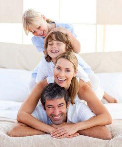 Happy family smilling