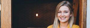 smiling woman after teeth whitening dunwoody, ga