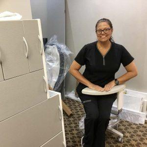Dental staff member smiling. Dunwoody, GA.