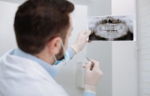 Dentist Looking at Dental X Rays Dunwoody GA